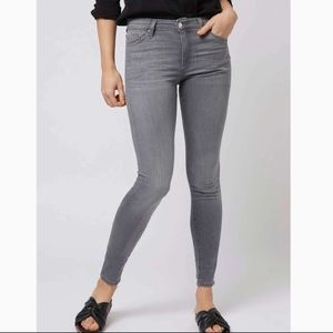 3/$60!! 💥 Topshop Leigh Moto Gray Skinny Jeans